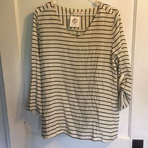 Brand new boutique striped top sz L NWT